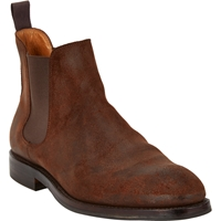 Crockett Jones Distressed Suede Chelsea Boots Brown M