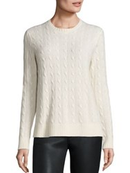 Polo Ralph Lauren Cashmere Cable Knit Sweater Heritage Cream