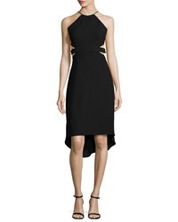 Halston Heritage Halter Back Cutout Cocktail Dress