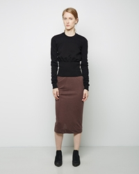Rick Owens Overlap Skirt Blood