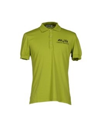 Cesare Paciotti 4Us Polo Shirts Acid Green