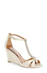 Women's Badgley Mischka 'Romance' Wedge Sandal Ivory