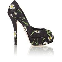 Dolce And Gabbana Women's Daisy Brocade Platform Pumps Black