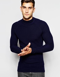 Selected Homme Turtle Neck Jumper Navy