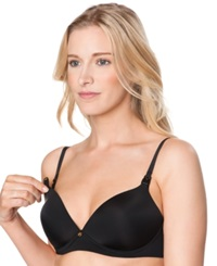 A Pea In The Pod Wireless Nursing Demi Bra Black