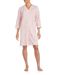 Miss Elaine Floral Print Duster Robe Pink