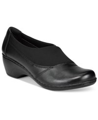 Clarks Collection Women's Channing Enna Flats Women's Shoes Black Leather