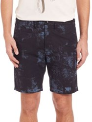 Paul Smith Standard Fit Printed Shorts Black Blue