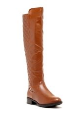 Godiva Brenda Quilted Riding Boot Brown