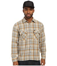 Brixton Archie Long Sleeve Flannel Heather Grey Men's Long Sleeve Button Up Gray