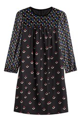Marc Jacobs Printed Silk Long Sleeve Shift Multicolor