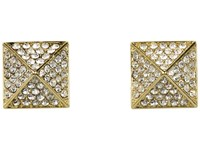 Vince Camuto Gold Pave Pyramid Studs Gold Earring