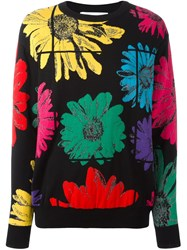 Moschino Floral Jumper Black