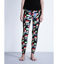 Sweaty Betty Santa Marta Run Stretch Jersey Leggings Santa Marta Print