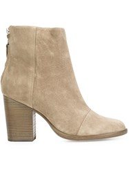 Rag And Bone Back Zip Ankle Boots Nude And Neutrals