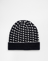Selected Beanie Hat Blue