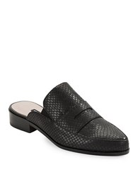 French Connection Louis Snake Embossed Loafers Black