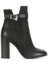 Diesel Buckled Ankle Boots Black