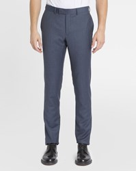 Sandro Navy Wool Suit Trousers Blue