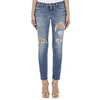 Dolce And Gabbana Women's Distressed Skinny Jeans Blue