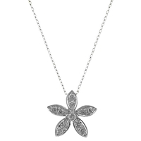 Ewa 18Ct White Gold Diamond Flower Pendant