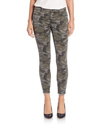 Blank Nyc Camo Cropped Jeans Green
