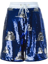 Joyrich Sequin Embellished Shorts Blue