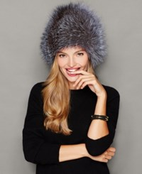 The Fur Vault Fox Hat Silver Fox