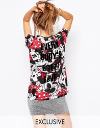 Eleven Paris Exclusive To Asos T Shirt In Minnie Mouse Print Minimulti