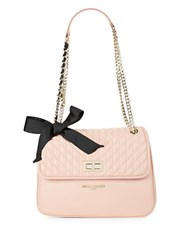 Karl Lagerfeld Quilted Leather Shoulder Bag Blush