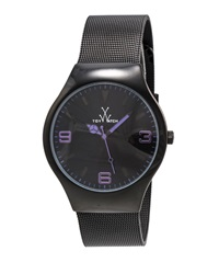 Toywatch Black Mesh Bracelet Watch Purple