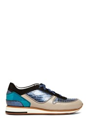 Lanvin Leather Running Sneakers Grey