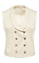 Hensely Double Breasted Vest Ivory