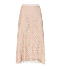 Christopher Kane Lace Midi Skirt Female Beige