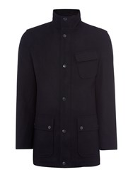 Howick Men's Palmer Wool Coat Navy