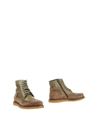 Alexander Hotto Ankle Boots Military Green