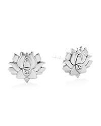 Alex And Ani Precious Metals Symbolic Lotus Peace Petals Earrings Sterling Silver
