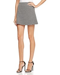 Aqua Arrowhead Jacquard Mini Skirt White Black