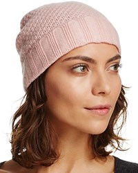 Bloomingdale's C By Waffle Knit Cashmere Hat Ballet