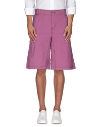 Armani Jeans Trousers Bermuda Shorts Men Garnet