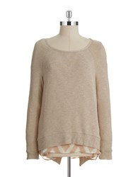 Casual Couture By Green Envelope Layered Effect Sweater Desert