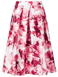 Jacques Vert Floral Print Prom Skirt Pink