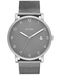 Skagen Men's Hagen Stainless Steel Mesh Bracelet Watch 40Mm Skw6307 Black