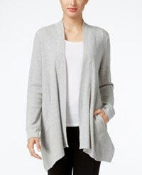 Styleandco. Style Co. Open Front Waffle Knit Cardigan Only At Macy's Light Grey Heather