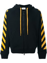 Moncler X Off White Striped Hoodie Black