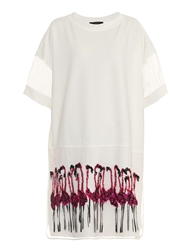 Giles Flamingo Embellished T Shirt Dress