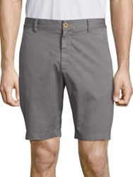 Robert Graham Pioneer Cotton Twill Shorts Navy White