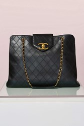 Nasty Gal Vintage Chanel Quilted Super Model Tote