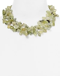 Kenneth Jay Lane Pebble Statement Necklace 16 Green