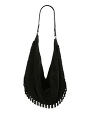 The Row Sling 15 Suede Hobo Black